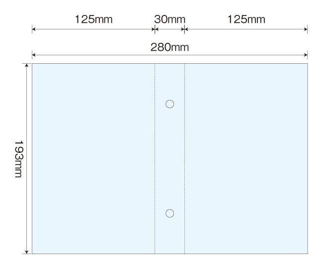 テンプレート内に本体底面にそのまま 印刷できる組み立て方が付いています。